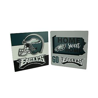NFL Philadelphia Eagles Football Cut Out State and Helmet Logo Wall Hangings