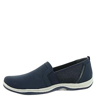 Easy Street Womens Mollie Fabric Low Top Slip On Fashion Sneakers