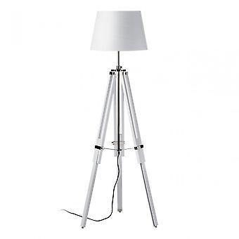Premier Home Jasper vloer lamp, verchroomde stof, hout, wit