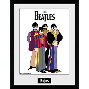 The Beatles Yellow Submarine Group Framed Collector Print 40x30cm