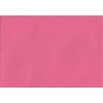 Flamingo rosa skal/tätning C5/A5 färgade rosa kuvert. 120gsm Luxury FSC-certifierat papper. 162 mm x 229 mm. plånbok stil kuvert.