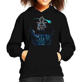 Astronauta Vegeta Brillo Dragon Ball Z Kid ' s Hooded Sweatshirt