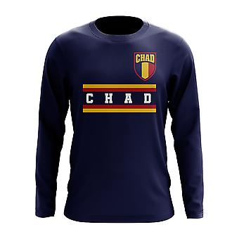 Chad Core Football Country T-Shirt a maniche lunghe (Navy)