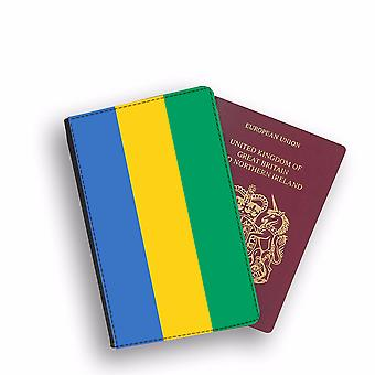 GABON Flag Passport Holder Style Case Cover Protective Wallet Flags design