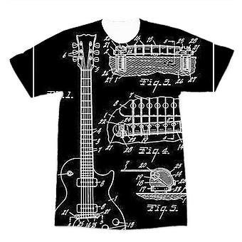 Gibson les paul patent premium sublimation adulte t-shirt