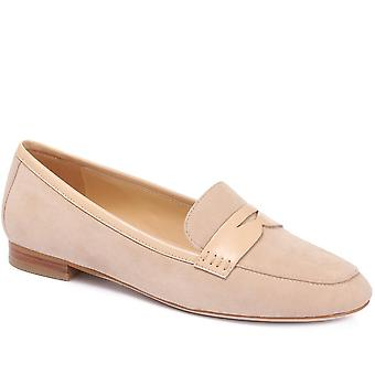 Leather penny loafer - yaxia