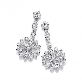Cavendish French Victorian Stylised Floral Drop Earrings