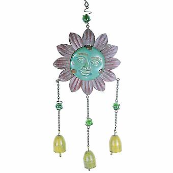Hanging Flower Face Garden Wind Chime