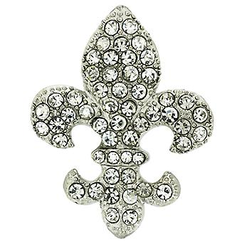 Brooches Store Large Crystal Fleur De Lis Wedding Brooch