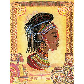 African Princess Counted Cross Stitch Kit-11.75