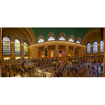 Commuters at a railroad station Grand Central Station Park Avenue Manhattan New York City New York State USA Poster Print
