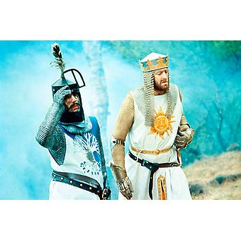 Monty Python And The Holy Grail From Left Terry Jones Graham Chapman As King Arthur 1975 Photo Print