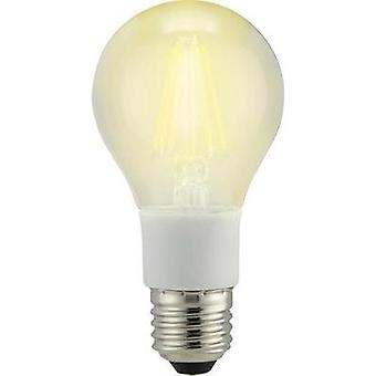 LED Sygonix 230 V E27 7 W = 60 W Warm white EEC: A++ Arbitrary (Ø x L) 60 mm x 114 mm Filament, dimmable 1 pc(s)