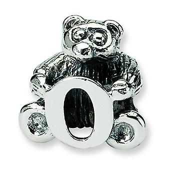 Sterling Silver Reflections Kids Letter O Bead Charm
