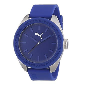 PUMA watch wrist watch men's U turn PU103731004 blue