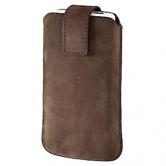 HAMA Universal mobile phone bag manica marrone scuro (iPhone4s)