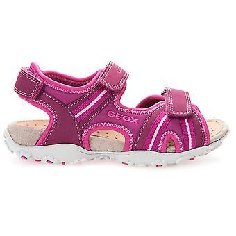 Geox Girls Roxanne J52D9A Sandals Fuchsia Pink