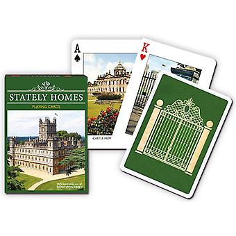 Stately Homes set of 52 playing cards + jokers    (gib)