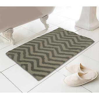 Country Club Chevron Bath Mat, 50cm x 80cm, Natural