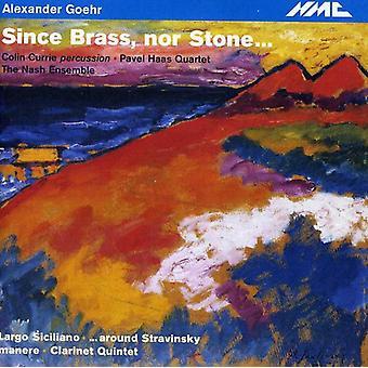 Goehr - Alexander Goehr: Da messing Nor Stone [CD] USA import