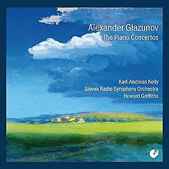 Glazunov / Kolly / Slowak Radio Symfoniorkester - Piano Concertos nr. 1 & 2 [CD] USA import