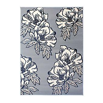Silver Grey Floral Rug - Element