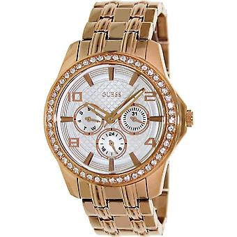 GUESS Rose Gold-Tone lucidato Glamour Ladies Watch U0147L3