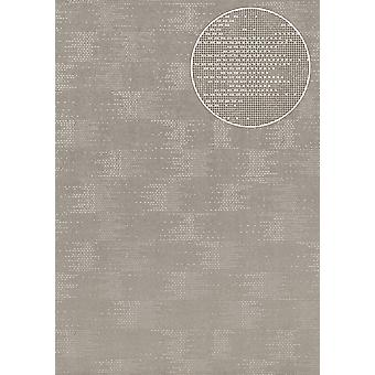 Uni wallpaper Atlas COL-499-0 non-woven wallpaper structured with structure shimmering silver grey 5.33 m2