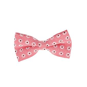 Snobbop-bound fly red flowers loop cotton bow tie
