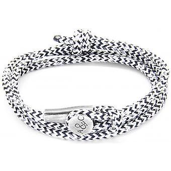 Anchor and Crew Dundee Silver and Rope Bracelet - White Noir