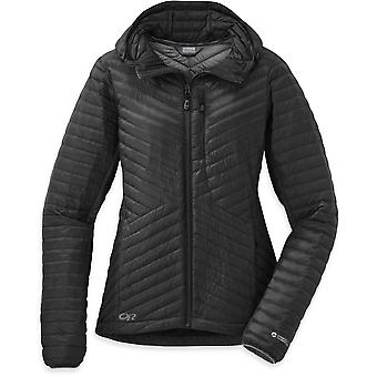 Outdoor Research Womens Verismo Hooded Down Jacket Black (UK Size 10)