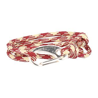 Vikings bracelet red cream spring clasp silver