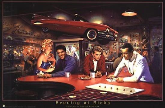 Evening At Ricks - George Bungarda Poster Poster Print