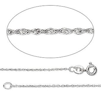 GEMSHINE 14 k 585 white gold necklace. 0.8 mm necklace in a classic design with lengths from 40 to 51 cm