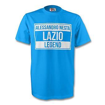 Alessandro Nesta Lazio legende Tee (himmel blå) - børn