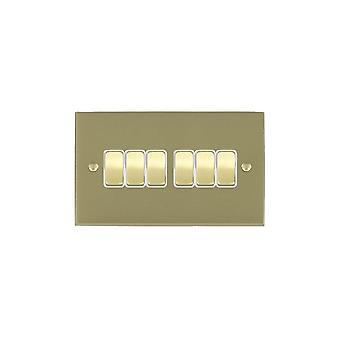 Hamilton Litestat Cheriton Victorian Satin Brass 6g 10AX 2 Way Rkr SB/WH