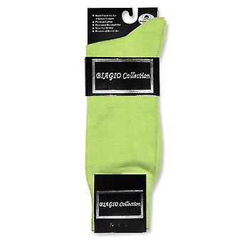 1 Pair of Biagio Solid Men's COTTON Dress SOCKS