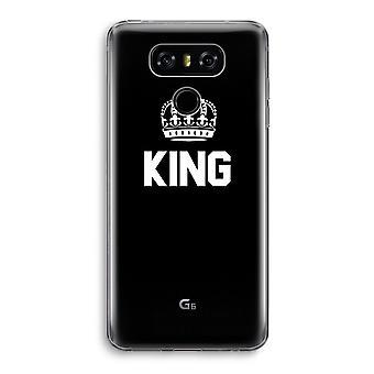 LG G6 Transparent Case - King black