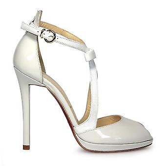 Franco Colli ladies FC601WHITE white patent leather heel shoes