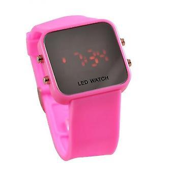 Kära rosa LED-klocka Digital Display