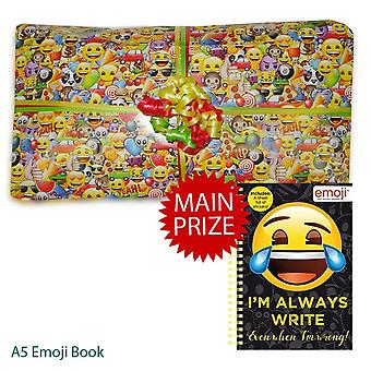 Pass the Parcel Ready Made Party Game - Emoji - 8, 10, 12, 14 or 16 Layers
