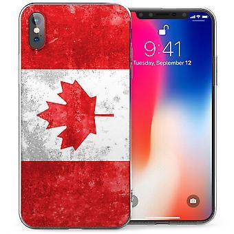 iPhone X Canada Retro Flag TPU Gel Case