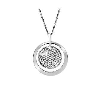 Orphelia Silver 925 Chain With Pendant 2 Circles With Zirconium  ZH-7354