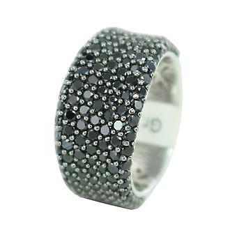 اسبري جمع السيدات خاتم الفضة زركونيا مكعب أسود ELRG91614B أفروديت
