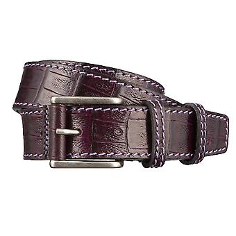 OTTO KERN belts men's belts leather belt Purple/Purple 2969