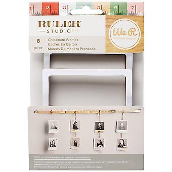 We R Ruler Studio Die-Cut Cardstock Frames 8/Pkg