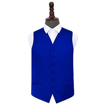 Royal Blue Plain Satin Wedding Waistcoat