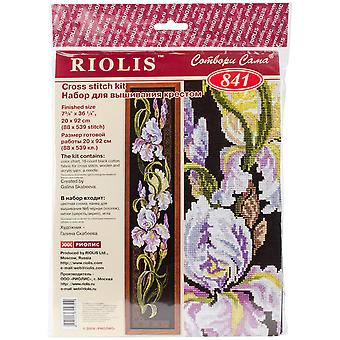 Irises Counted Cross Stitch Kit-7.75