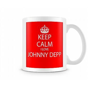 Keep Calm I Love Johnny Depp Printed Mug