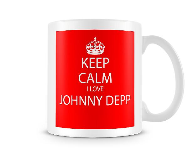 Keep Calm I Love Johnny Depp Printed Mug